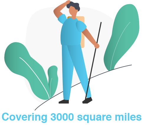 Covering 3000 square miles
